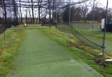 Sulhampstead CC non-turf practice facility before it was refurbished by Total Play
