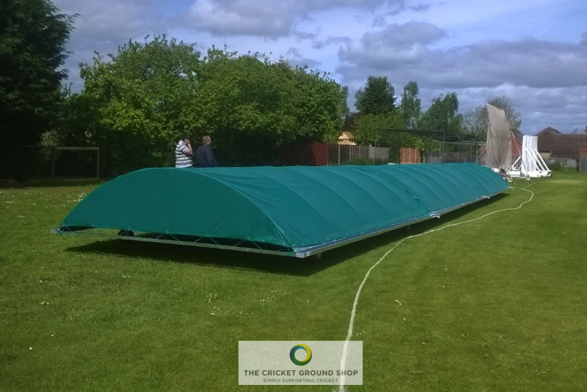 Rain Defender Mobile Cricket Pitch Cover