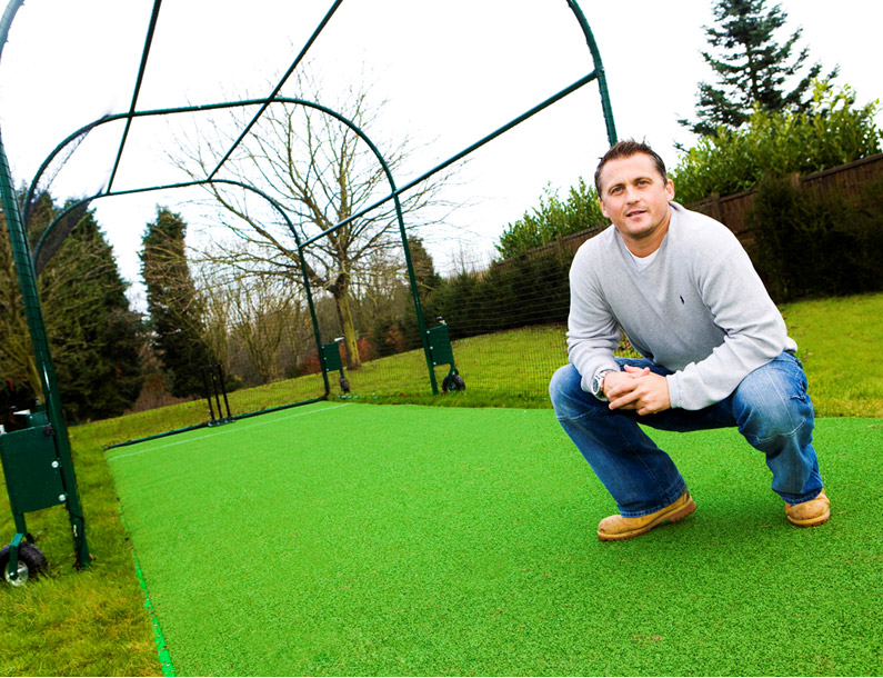 Total Play designed and built a Domestic sports facility for Darren Gough