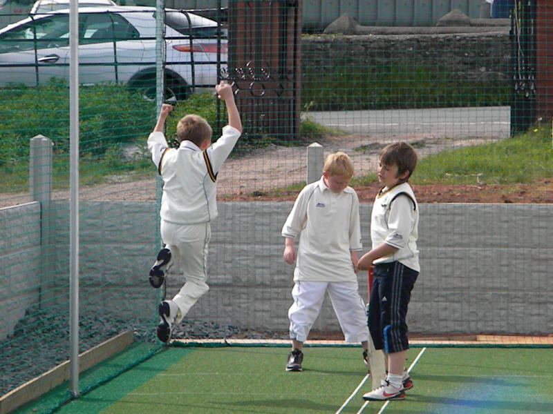 Youth Players at Lindal Moor Celebrate newly refurnished non-turf cricket facility