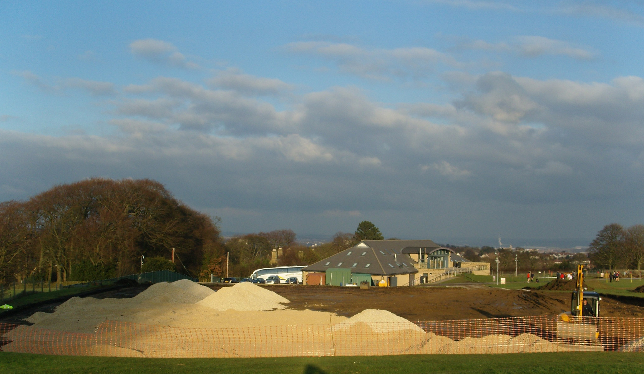 Birkdale School new pitch in construction