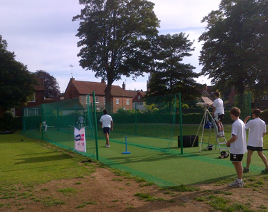 Chichester non-turf cricket net facility before Total-Play