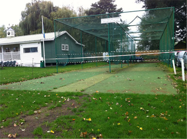 Henley cricket turf practice facility before Total-Play