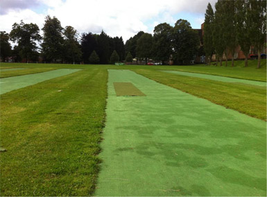 Ardingly College before refurbishment photo of non-turf practice pitch