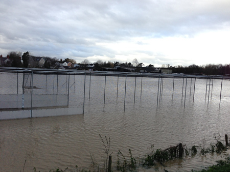 St Asaph Cricket Pitches Flooded