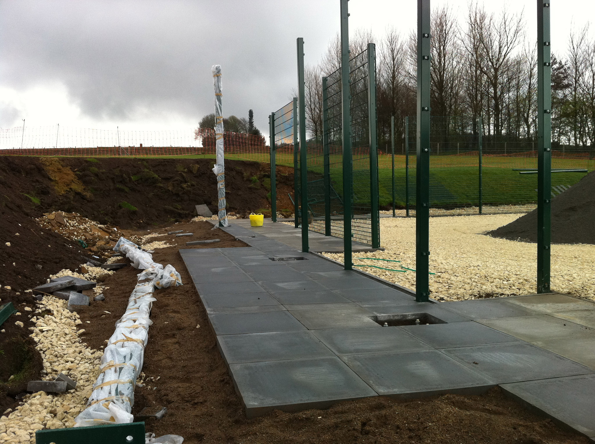 Birkdale School Muga Goal Area under Construcion