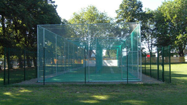 Total Play designed and constructed a Non-turf cricket nets for Barking CC