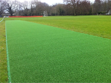 The new non-turf cricket net facility at Cleeve CC which was designed and installed by Total Play