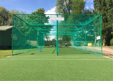Non-turf cricket practice facility refurbishment Total-Play 2