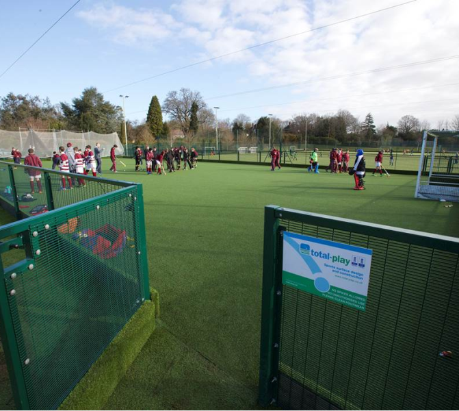 MUGA being used for Hockey at Churcher's College