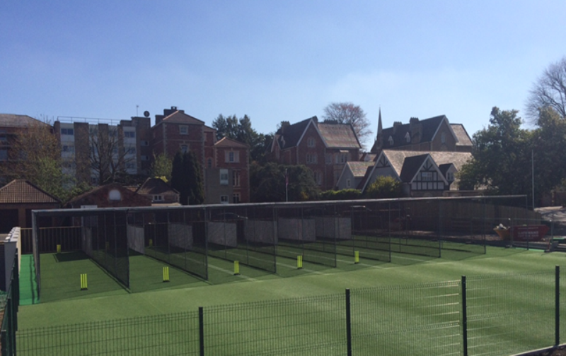 10 lane Non-Turf Cricket Practice Facility at Clifton College