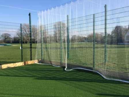 Cricket Netting close up on Bespoke Cricket Muga at Bromsgrove School