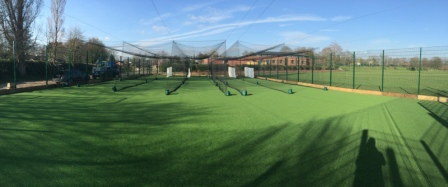 Bespoke Cricket MUGA with Cricket Nets built at Bromsgrove School