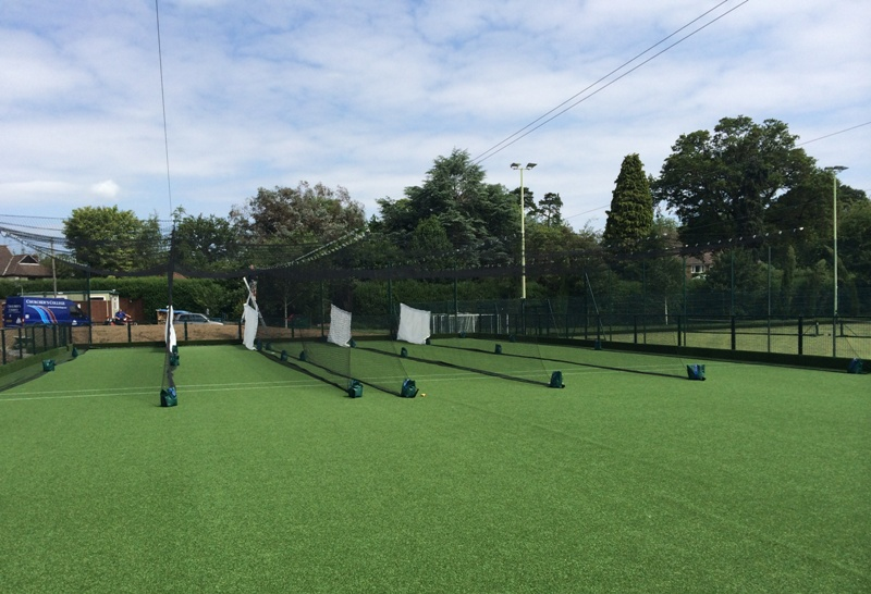 New cricket MUGA Design and Installed by Total Play for churcher's college