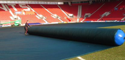Football pitch cover