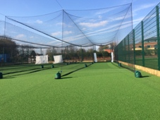 Cricket based MUGA with nets deployed at Bromsgrove School