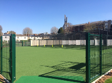 The new 10 lane cricket practice nets facility at Clifton College