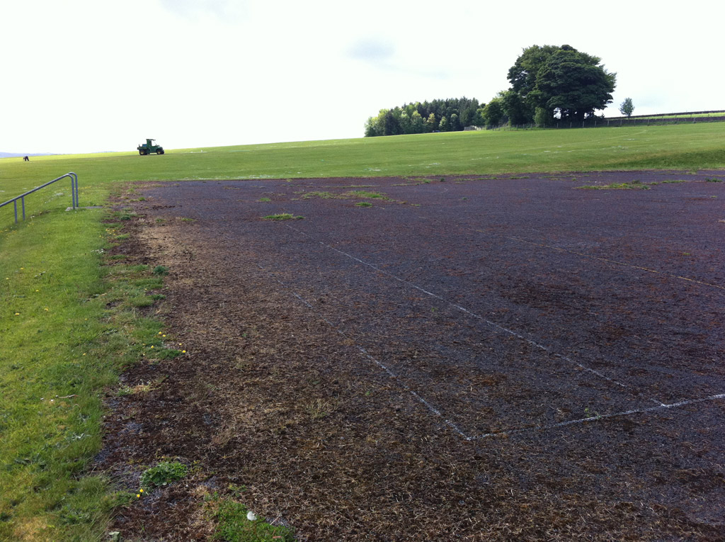 Birkdale School pitch before renovation Total-Play