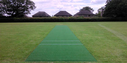 Non-turf cricket practice match pitch refurbishment royal