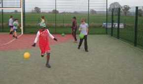 Stisted School MUGA with Children Playing