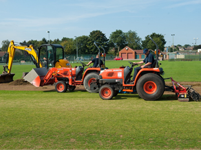 Sports turf maintenance vehicles