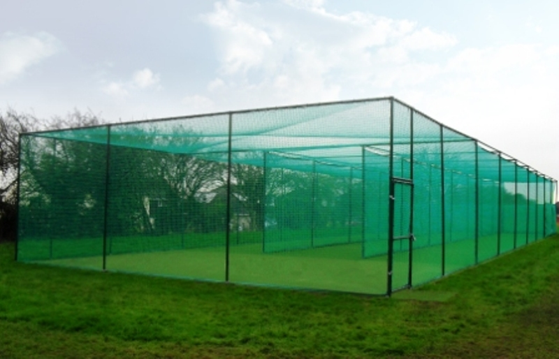 Non-turf Three Lane Cricket Practice Facility built at Clevedon CC Side profile