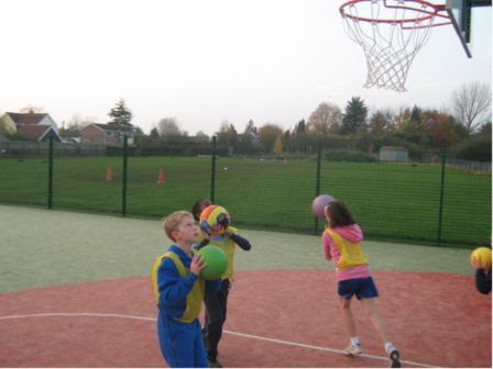 Stisted Primary Acedemy Basket Ball on MUGA