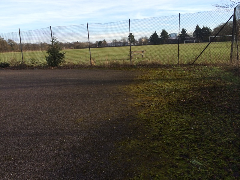 Crawley Eagles Tennis Court before new facility