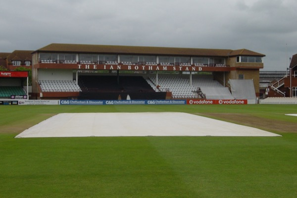 Climate Cover System on the pitch at County Ground, Taunton