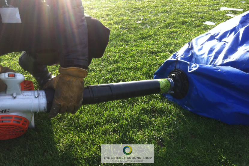 TGC Winter Pitch Germination / Frost Protection, IaTGC Winter Pitch Germination / Frost Protection, Inflation process