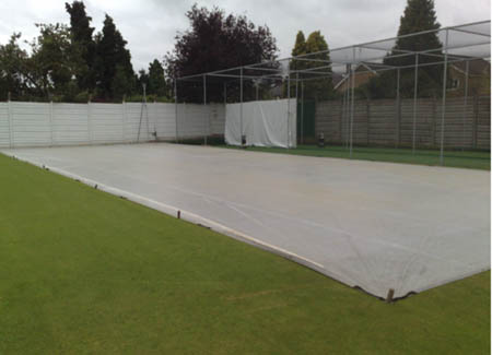 Cricket turf installation progress Total-Play