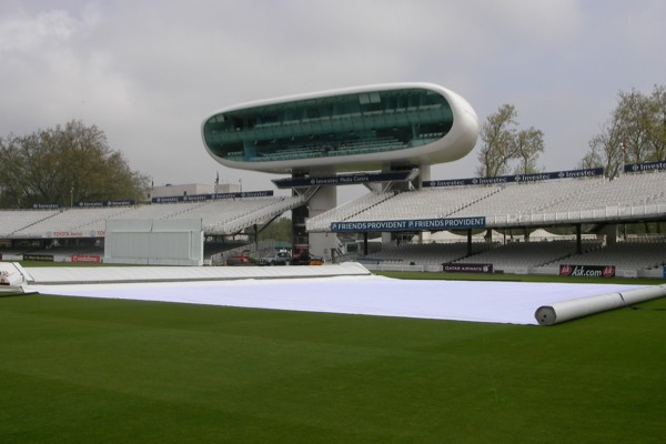 Climate Cover system in use at Lords