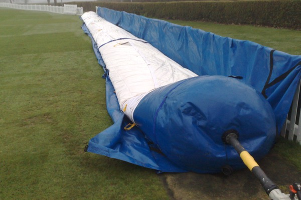 Protective Sleeve releasing Climate Cover Pitch Protection, deflated