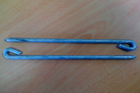 Galvanised Steel Cricket Ground Pegs