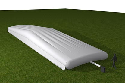 Bio-Cell Hybrid Climate Cover Pitch Protection 3D Render Inflated