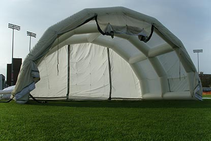 Climate Cover Pitch Protection Front View