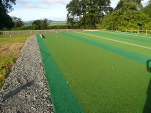 Non-Turf Match Pitch Net Installation