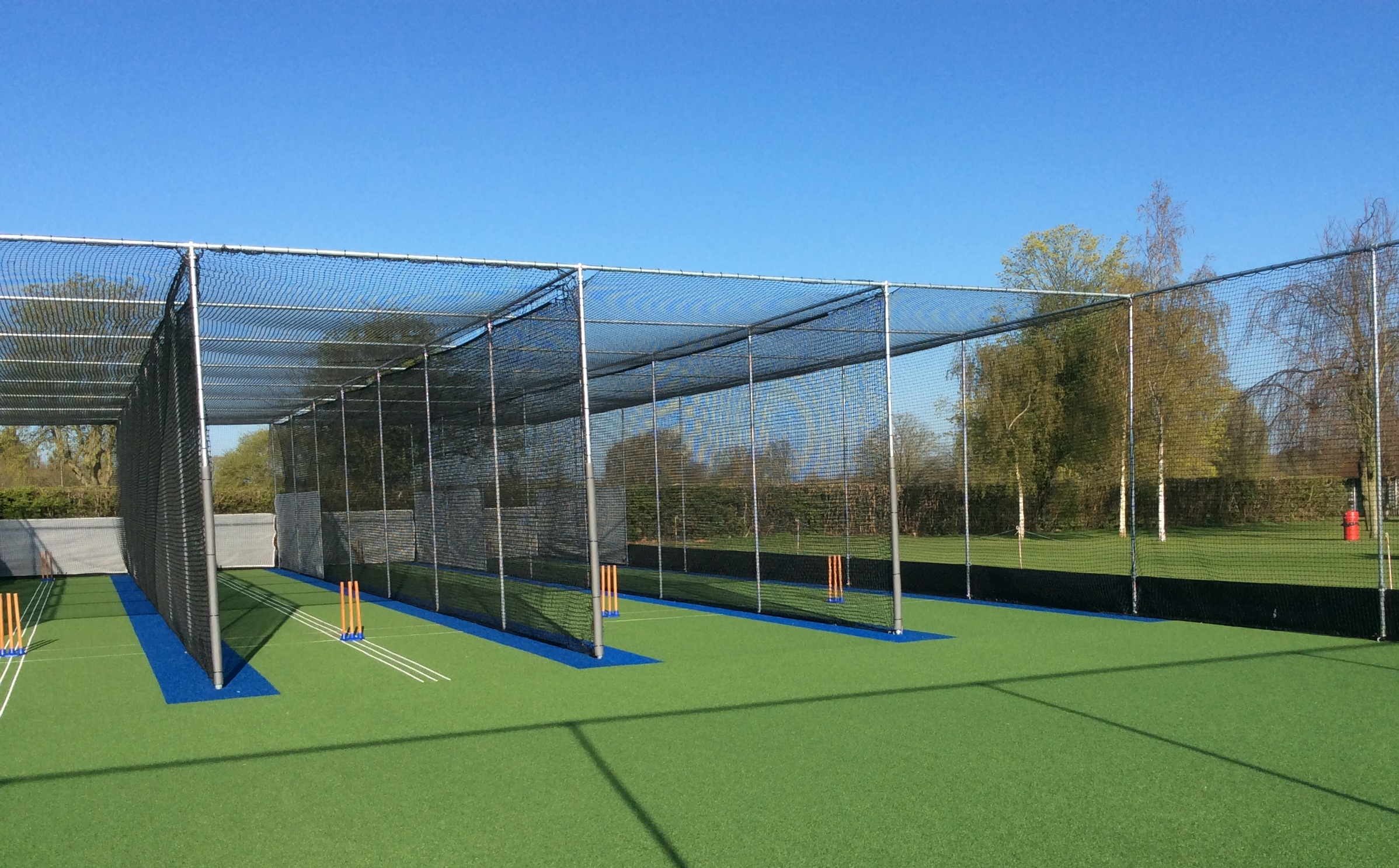 Non turf cricket practice nets