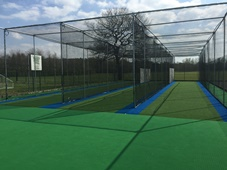 Synthetic cricket practice nets at Durham