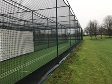 Artificial cricket practice nets facility