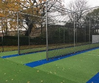 New total play cricket practice nets facility at Stockport Grammar School