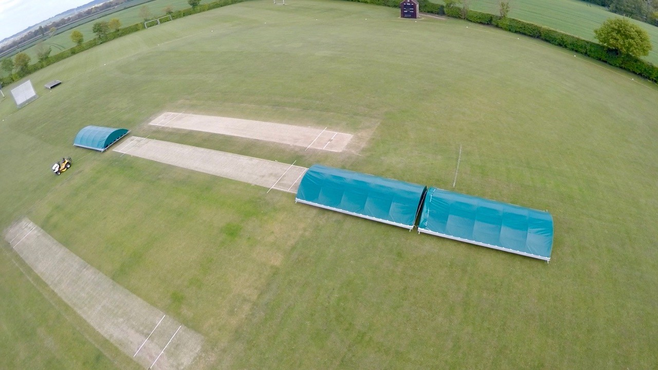 Rain Defender Dome Mobile Cricket Pitch Covers at Raskelf CC - Copy