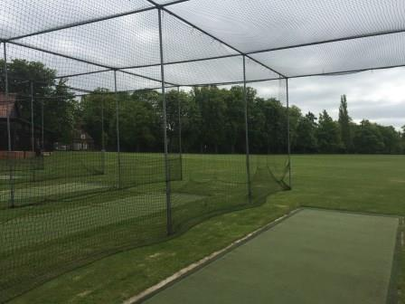 Berkhamsted cricket practice nets before