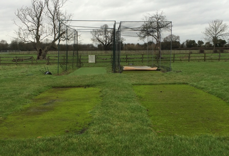 Bolton Percy cricket nets before