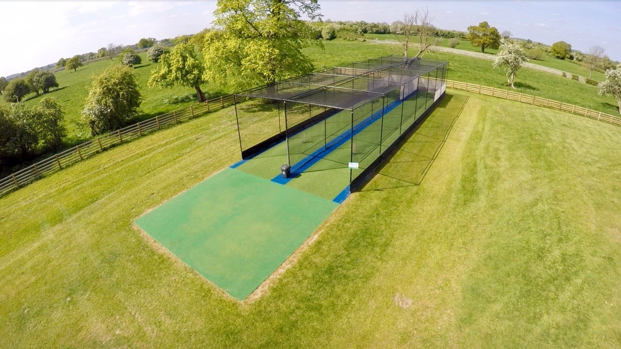 Total-Play artificial practice cricket nets at Bolton Percy CC