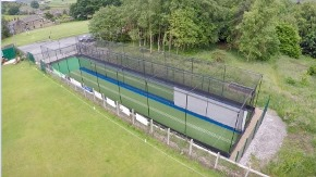 total-play cricket practice nets at Oxenhope CC