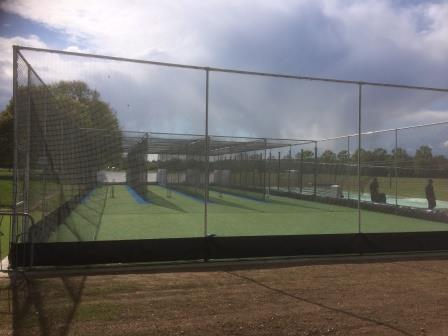 external view of new artificial cricket nets by total-play