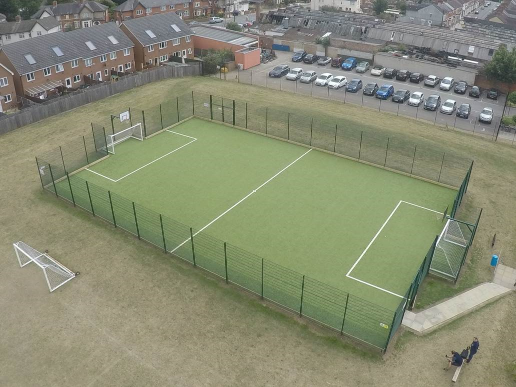 total-play MUGA sports pitch at St James School
