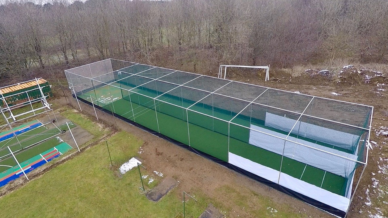 total-play ecb approved non turf cricket nets at Normanby cc