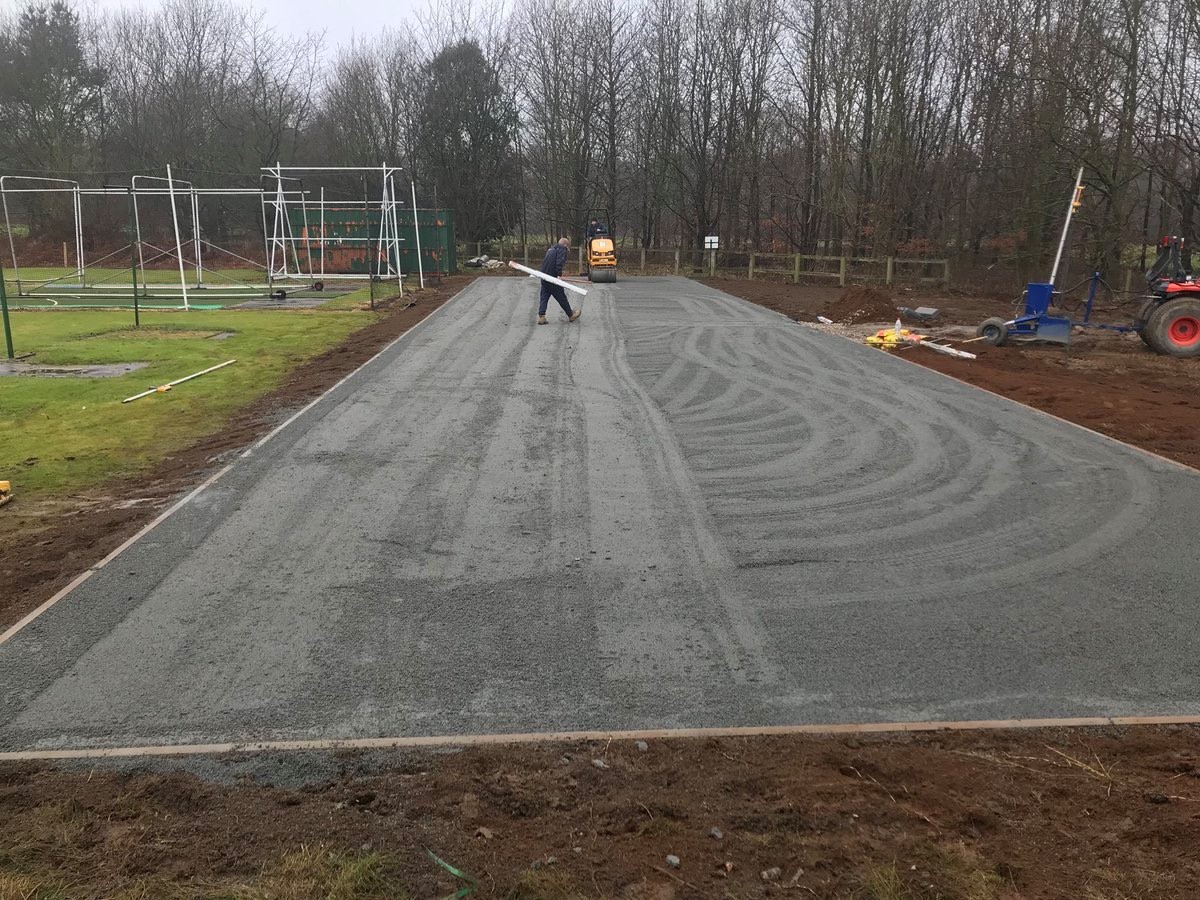 work in progress on total-play system at Normanby CC